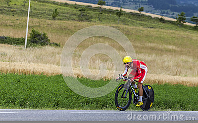 The Cyclist Daniel Navarro Editorial Stock Photo