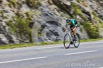 The Cyclist David Veilleux Editorial Photo