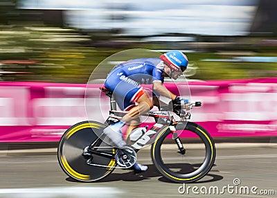 The Cyclist David Zabriskie Editorial Stock Photo
