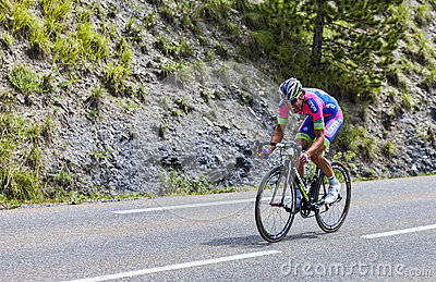 The Cyclist Davide Cimolai Editorial Stock Photo