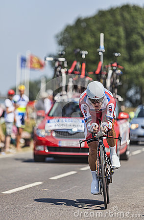 The Cyclist Eduard Vorganov Editorial Image