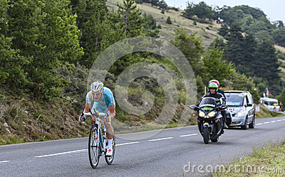 The Cyclist Enrico Gasparotto Editorial Stock Photo