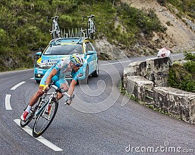 The Cyclist Francesco Gavazzi Editorial Photo