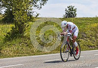 The Cyclist Gatis Smukulis Editorial Photography