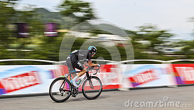 The Cyclist Geraint Howell Thomas Editorial Stock Photo
