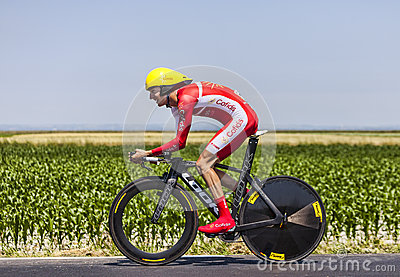 The Cyclist Guillaume Levarlet Editorial Photography