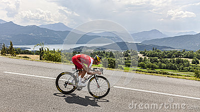 The Cyclist Guillaume Levarlet Editorial Stock Photo