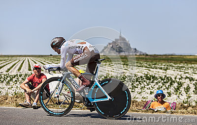 The Cyclist Hubert Dupont Editorial Stock Image