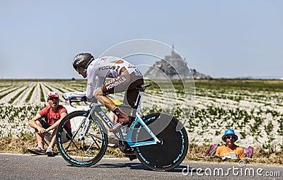 The Cyclist Hubert Dupont Editorial Stock Image