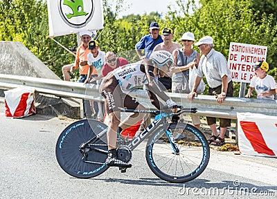 The Cyclist Jean-Christophe Peraud Editorial Stock Photo
