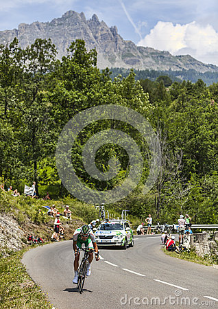 The Cyclist Jean-Marc Marino Editorial Stock Image