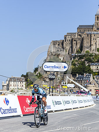 The Cyclist Jerome Pineau Editorial Stock Photo