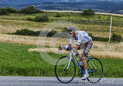 The Cyclist John Gadret Editorial Stock Photo