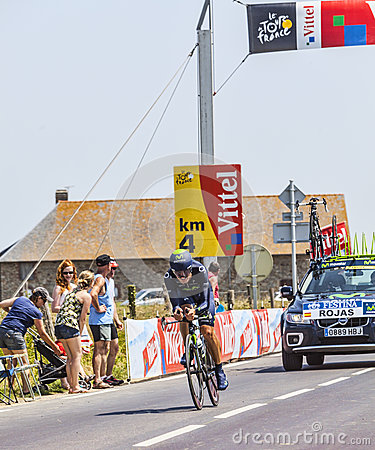 The Cyclist Jose Joaquin Rojas Gil Editorial Image