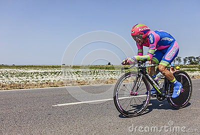 The Cyclist Jose Rodolfo Serpa Perez Editorial Stock Image