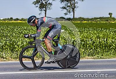 The Cyclist Kanstantsin Siutsou Editorial Stock Image