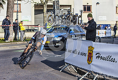 The Cyclist Kelderman Wilco- Paris Nice 2013 Prologue in Houille Editorial Image