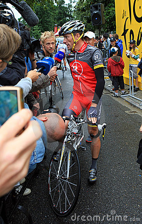 Cyclist Lance Armstrong Editorial Stock Image