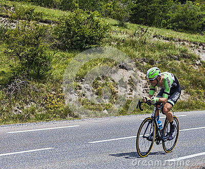 The Cyclist Lars Boom Editorial Stock Image
