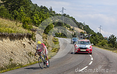 The Cyclist Luis Angel Mate Mardones Editorial Stock Image