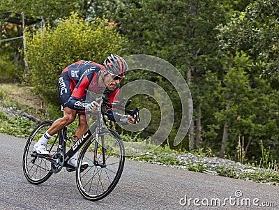 The Cyclist Manuel Quinziato Editorial Photography