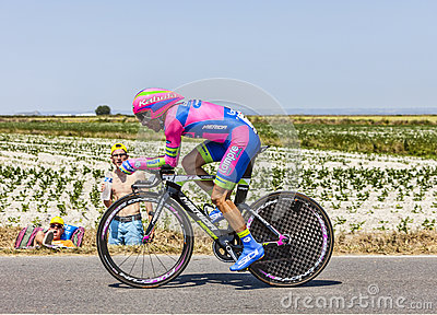 The Cyclist Manuele Mori Editorial Stock Photo