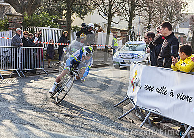 The Cyclist Matthews Michael- Paris Nice 2013 Prol Editorial Stock Image