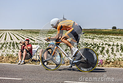 The Cyclist Mikel Astarloza Chaurreau Editorial Stock Photo