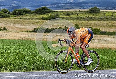 The Cyclist Mikel Astarloza Editorial Stock Photo
