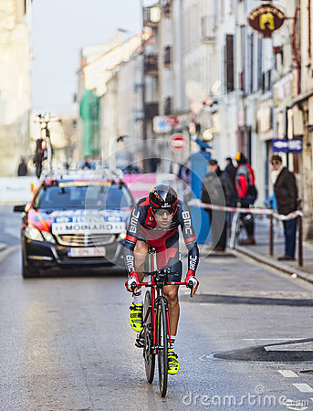The Cyclist Moinard Amaël- Paris Nice 2013 Prologue in Houilles Editorial Image