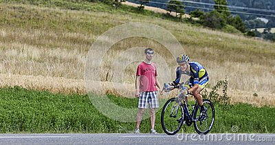 The Cyclist Nicolas Roche Editorial Stock Image