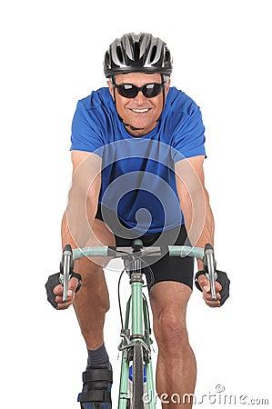 Free Cyclist On Bike Closeup Royalty Free Stock Photo - 14053485