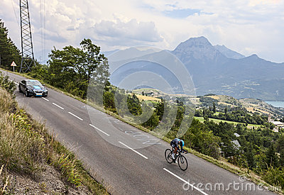 The Cyclist Peter Kennaugh Editorial Stock Photo