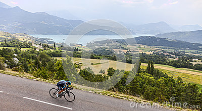 The Cyclist Peter Kennaugh Editorial Photo