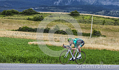 The Cyclist Pierre Rolland Editorial Stock Photo