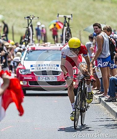The Cyclist Rein Taaramae Editorial Stock Photo