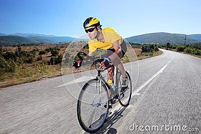 Cyclist riding a bike