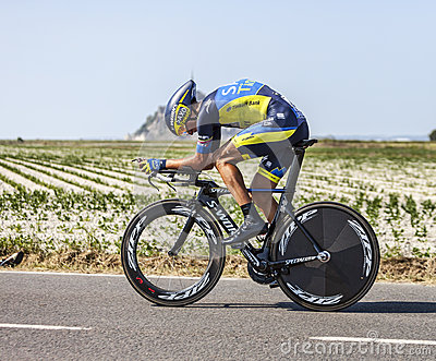 The Cyclist Roman Kreuziger Editorial Stock Image