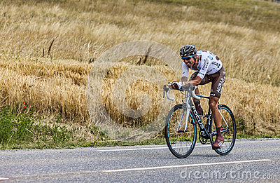 The Cyclist Sebastien Minard Editorial Stock Photo