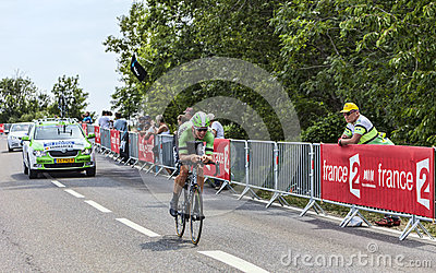 The Cyclist Sep Vanmarcke Editorial Stock Image