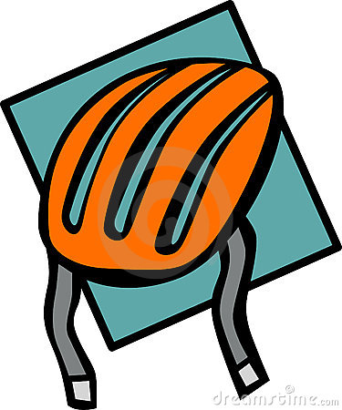 Cyclist or skater helmet vector illustration
