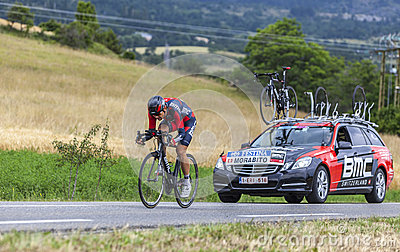 The Cyclist Steve Morabito Editorial Photo