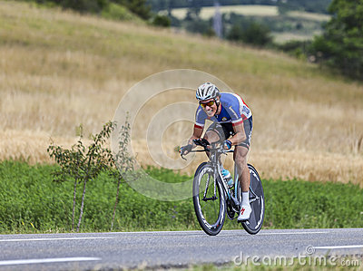 The Cyclist Sylvain Chavanel Editorial Photography