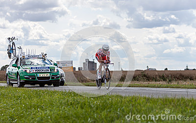 The Cyclist Thomas Voeckler Editorial Stock Image