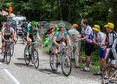 The Cyclist Thomas Voeckler on Col du Granier Editorial Stock Photo