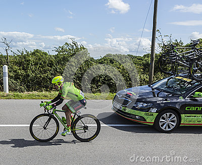 The Cyclist Tom-Jelte Slagter - Tour de France 2016 Editorial Photography
