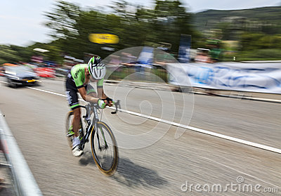 The Cyclist Tom Leezer Editorial Stock Photo