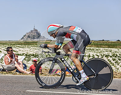 The Cyclist Tony Gallopin Editorial Photography