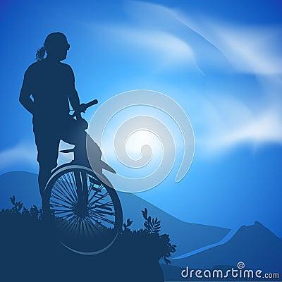 Cyclist. Vector illustration