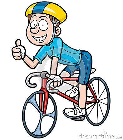Vector illustration of Cartoon Cyclist.